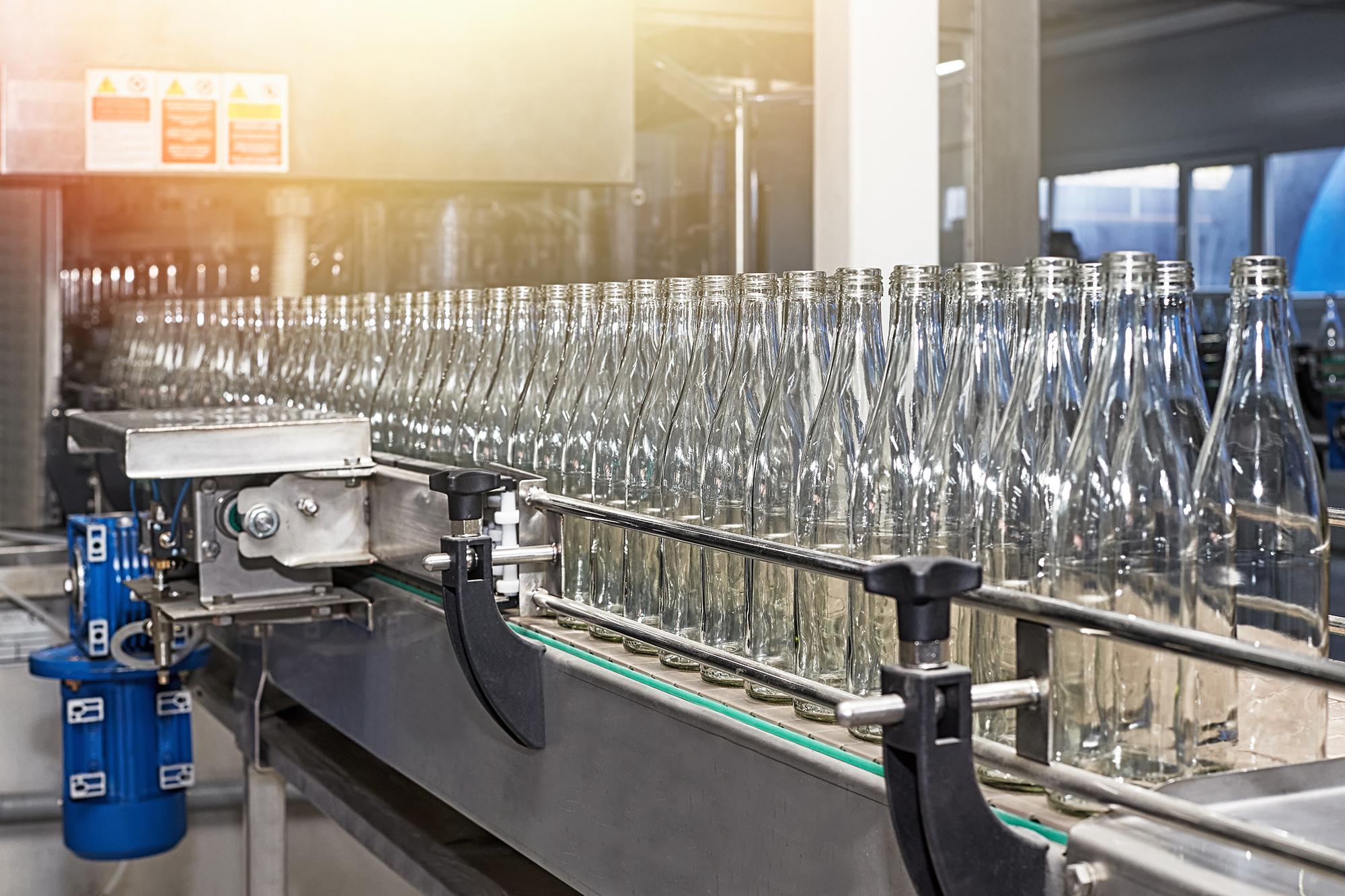 bottling plant assembly line
